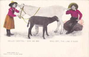 Mule, Hello! Central! Give Me 999, Ring Off, The Line Is Busy, 1900-190s