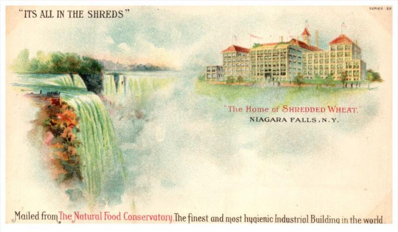 16742 NY Niagara Falls 1898 The Home of Shredded Wheat, The Natural Food Cons...