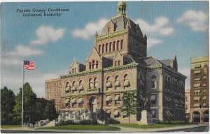 Fayette County Courthouse Lexington Kentucky Mailed 1958 Lincoln Stamp