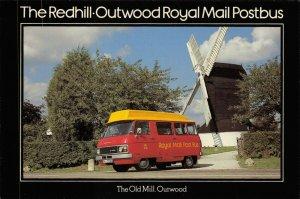 Postcard 1979 FDI Redhill to Outwood Royal Mail Postbus Windmill Dodge MINT 38X