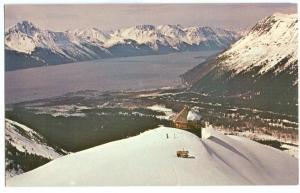 USA, View at Mt. Alyeska, Alaska, unused Postcard
