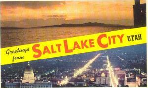 Scenic Views Greetings from Salt Lake City Utah UT