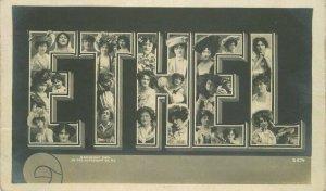 1906 Ethel Large Letters Multi Head Women RPPC Photo #B874 Postcard 21-9657