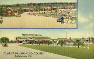 Clark's De Luxe Auto Courts Tallahassee FL Unused
