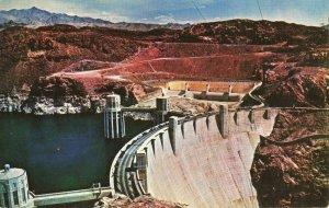 Postcard Hoover Boulder Dam Nevada Arizona