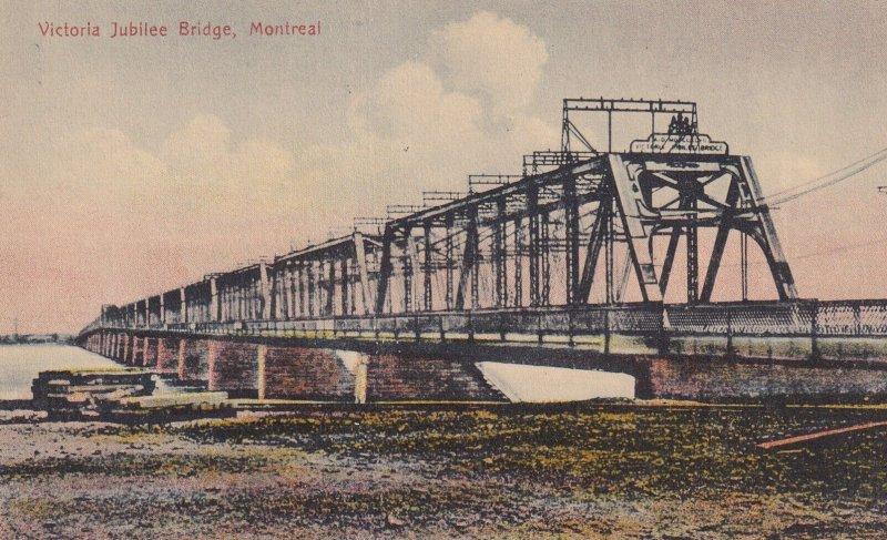 MONTREAL, Quebec, Canada, 1900-1910s; Victoria Jubilee Bridge