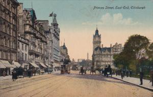 Street View, Princes Street, East End, Edinburgh, Scotland, UK, 1900-1910s