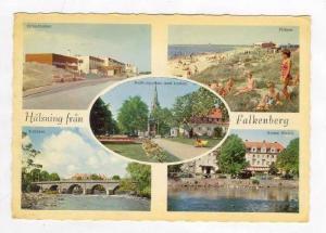 Halsning Fran Falkenberg, Sweden, PU-1965, 5 Views: Strandbaden, Plagen, Tull...