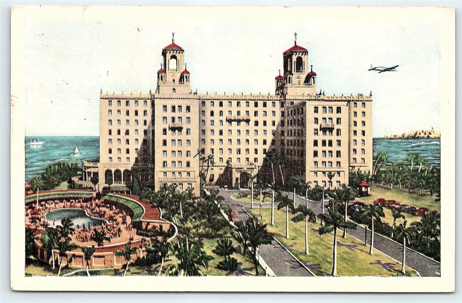 Postcard Cuba Havana Hotel Nacional De Cuba 1952 Stamps E15 Hippostcard
