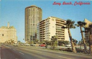 Long Beach California 1960-70s Postcard East Ocean Boulevard Apartments & Hotels