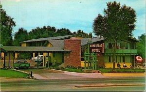 HOMESTEAD Motel Denver,Colorado vintage postcard ca.1960s CHROME
