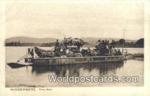United Kingdom, UK, England, Great Britain Ferry Boat Windermere Windermere F...