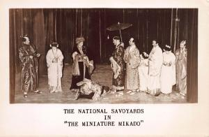 The National Savoyards in the Miniature Mikado, Early Postcard, Unused