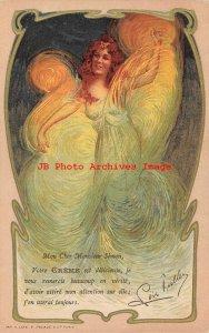 Loie Fuller, E Pecaud, Art Nouveau Dancer Costume, Litho