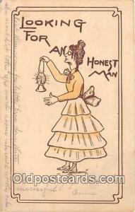 Looking For AN Honest Man  Postcard Post Card  Looking For AN Honest Man
