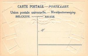 Belgium, Classic Stamps in Actual Colors, Early Embossed Postcard, Unused