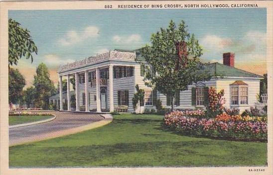 California North Hollywood Residence Of Bing Crosby