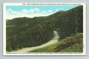 Trail Ridge Road, Continental Divide, Grand Lake to Estes Park Colorado Postcard