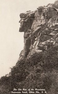 WHITE MOUNTAINS, New Hampshire, 1953; The Old Man of the Mountains, Franconia...