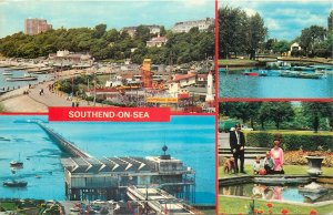 England Postcard Southend-on-Sea resort various aspects and sites