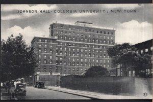 New York Johnson Hall Columbia University older cars - pm1934 - Divided Back
