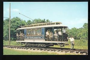 Kennebunkport, Maine/ME Postcard, Manchester, NH Trolley,