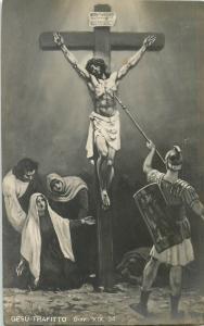 Gesu Trafitto Jesus pierced vintage postcard Italy