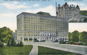 Albany NY, New York - Hotel Dewitt Clinton - Opposite State Capitol - Linen
