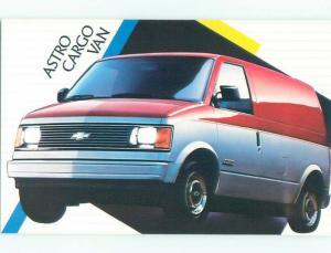 Unused 1980's postcard ad CHEVROLET ASTRO CARGO VAN k9041