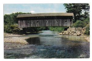 Arlington Vermont Covered Bridge Vintage Postcard VT