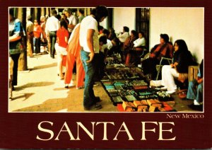 New Mexico Santa Fe Indians Selling Handmade Artifacts Palace Of The Governors