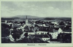 ukraine russia, MUKACHEVE MUNKÁCS MUKAČEVO Мукачеве, Panorama (1910s)