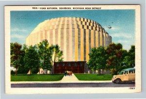 Dearborn MI-Michigan, Ford Rotunda, Linen c1955 Postcard