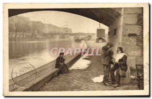 Old Postcard Paris near Wharf Scene of Our Lady Barber Hairdresser TOP Folklore