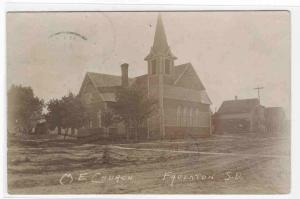 M E Church Faulkton South Dakota 1907 postcard