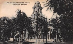 Wilson County Court House, Fredonia, Kansas,  Early Postcard, Unused