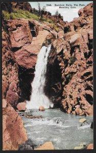 Rainbow Falls Ute Pass Manitou Colorado Unused c1910s