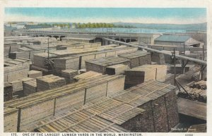 WASHINGTON, 1910-30s; One of the Largest Lumber Yards in the World