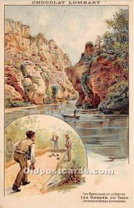 Old Vintage Lawn Bowling Postcard Post Card Les Gorges Du Tarn Unused