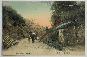 Old Divided Back Era Postcard Mogi-Road, Nagasaki, Japan Posted 1911
