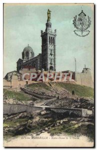 Old Postcard Marseille Notre Dame de la Gare