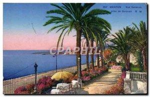 Old Postcard Menton Garavan taken Vue Generale