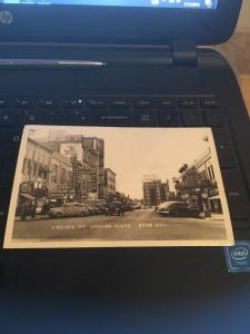 Vtg Postcard: Virginia St. Looking South, Reno Nevada