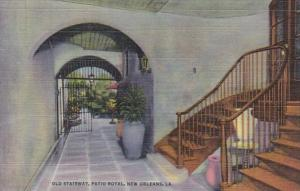 Louisiana New Orleans Old Stairway Patio Royal Curteich