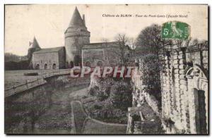 Old Postcard Chateau Blain Tour drawbridge
