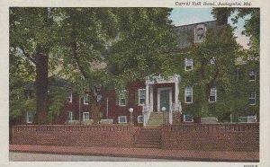Maryland Annapolis Carvel Hall Hotel