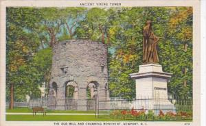 Rhode Island Newport Old Mill and Channing Monument Ancient Viking Tower 1945