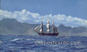 The Bounty Sailing Near, Tahiti Sail Boat Postcard Post Card Unused
