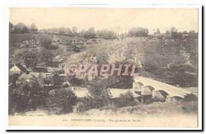 Creuse Freselines Old Postcard General view of Vervit