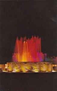 Georgia La Grange Illuminated Fountain In Downtown La Grange